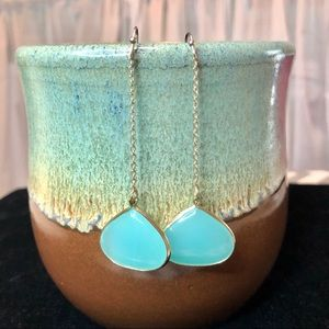 The Limited Turquoise Glass Drop Earrings